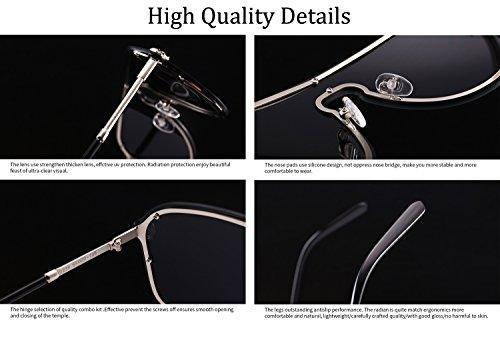 One Decoration de de Lens Frame Clear UV400 gran sol Mujeres Piece Hombres Shield PC con Moda tamaño ATNKE Gafas Metal de para HD Gris Protección Gafas Skull 5STRx