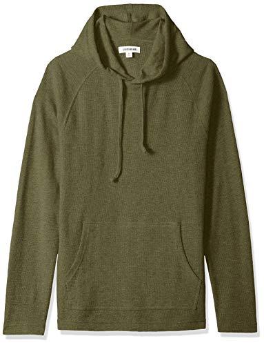 Goodthreads Men's Long-Sleeve Slub Thermal Pullover Hoodie, Olive, Large ()