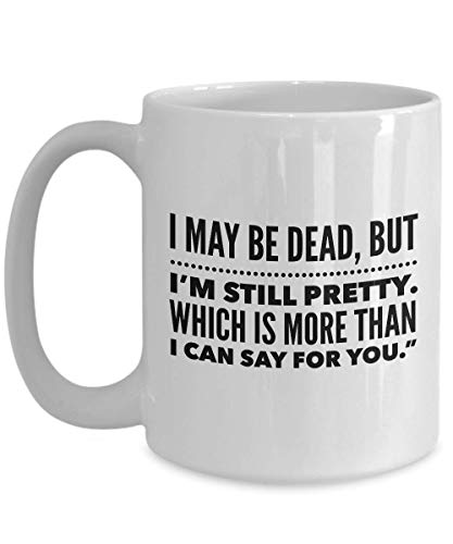 Buffy Slay Day Coffee Mug 15oz - Vampire Slayer Ceramic Novelty Tea Cup - Be Strong - Quote Gift Idea for Halloween present birthday xmas home decor -