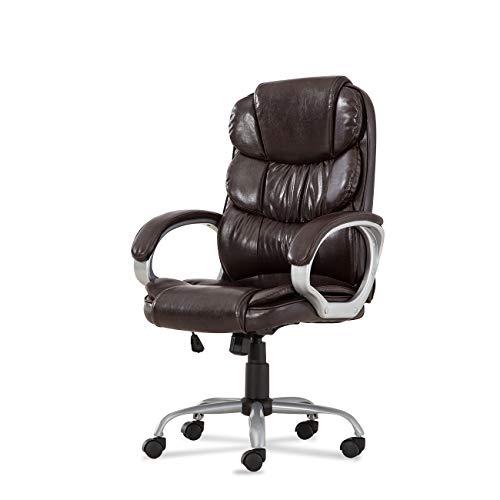 Belleze Executive Office Chair Desk Computer Luxury Cushion Seat Ergonomic Padded Armrest Chair - Mocha