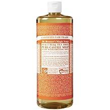 Dr. Bronner's Magic Soaps Pure-Castile Soap, 18-in-1 Hemp Tea Tree, 32-Ounce