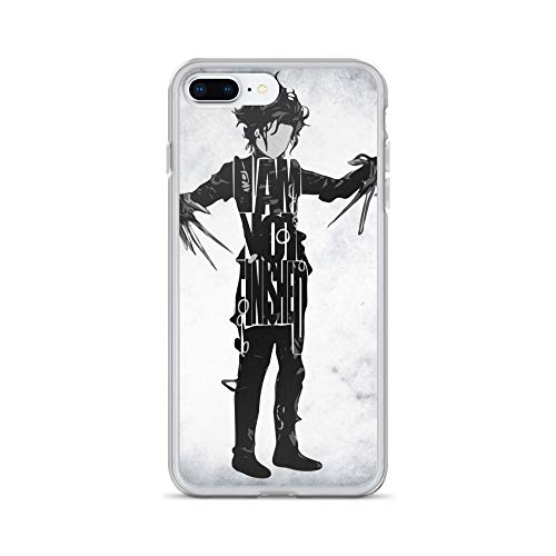iPhone 7 Plus/8 Plus Case Anti-Scratch Motion Picture Transparent Cases Cover Edward Scissorhands Typography & Minimal Classic Movies Video Film Crystal Clear