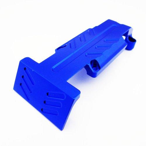 (Atomik RC Traxxas Revo 3.3 Nitro Aluminum Alloy Rear Skid Plate Hop Up Upgrade, Blue Replaces Traxxas Part 5337)