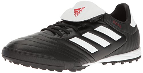 adidas Men's copa 17.3 tf Soccer Shoe, White/Black, (7 M US) (Mundial Team Leather Tf Cleats)