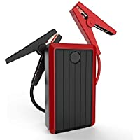 iClever 450A Peak 10000mAh Portable Car Jump Starter with Smart Clamp (Black)