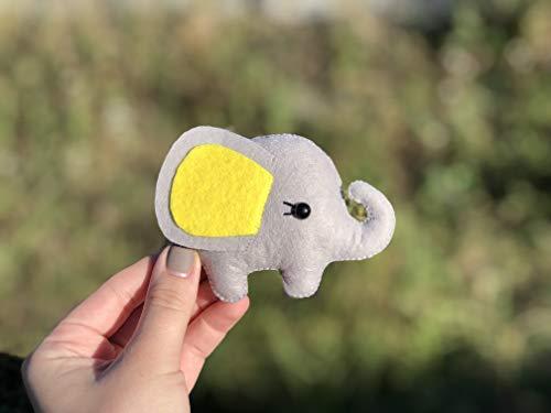 - Cute Felt Elephant Toy Christmas Tree Ornaments Plush Animals Unique Xmas Baby Room Decor Handmade Cartoon Decoration for Kids Collectible Gift Ideas