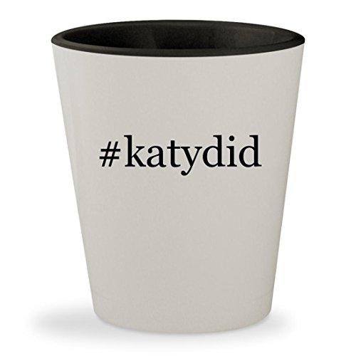 #katydid - Hashtag White Outer & Black Inner Ceramic 1.5oz Shot Glass