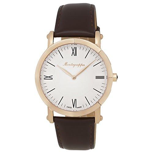 Montegrappa NeroUno Slim Swiss Made Men's Rose Gold Watch IDNMWARW