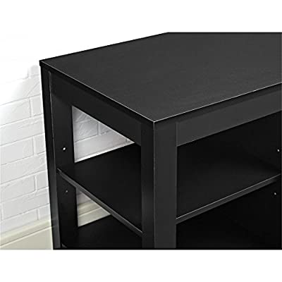 "Ameriwood Home Parsons Electric Fireplace TV Stand for TVs up to 55"", Black"