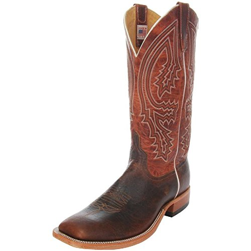 Anderson Bean Mens Mike Tyson Bison Rust Lava Cowboy Boots 13 D(M) US Brown/Red