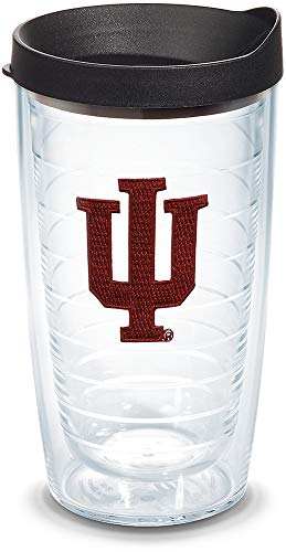 Tervis 1056586 Indiana Hoosiers Logo Tumbler with Emblem and Black Lid 16oz, ()