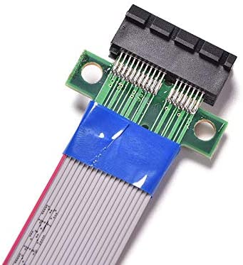 ShineBear PCI Express Flex Relocate Cable PCI-E 1X to 1x Slot Riser Card Extender Extension Ribbon for Bitcoin Miner Cable Length: Extension Cable
