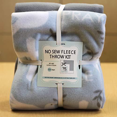 Doves & Crosses No-Sew Throw Fleece Fabric Kit (72x60)