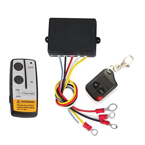 Winch Wireless Remote Control Set For Truck Jeep Atv 12V Car Cordless 50Ft Auto