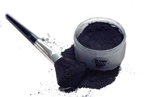 Bloody Mary Makeup Loose Setting Powder, Coal Black -