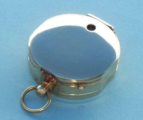 Brass Forestry Clinometer Compass with Leather Case