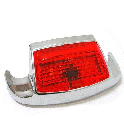 BKrider Front Fender Trim Light with Red Lens for Harley-Davidson OEM (Harley Davidson Fender Trim)