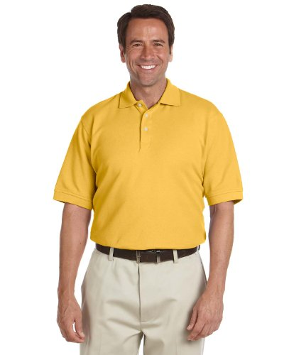 (Chestnut Hill Men's Short Sleeve Performance Plus Pique Polo Shirt CH100 yellow XX-Large)