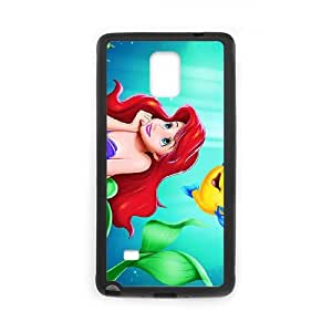 Anime Mermaid Samsung Galaxy Note 4 Cell Phone Case Black L0531584
