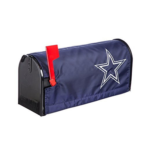 Ashley Gifts Customizable Embroidered Applique Fabric NFL Mailbox Cover, Dallas Cowboys