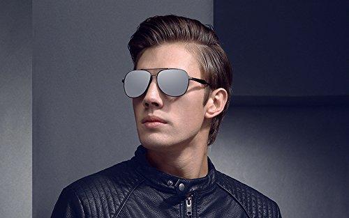lentilles pour étui Soleil fraîches de Oculos colorées polarisées Hommes Mode Black Lunettes Lunettes avec rétro JCH xqIwYABU