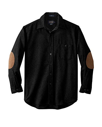 Pendleton - Men's Long Sleeve Button Front Classic-fit Trail Shirt, Black Flannel, Small