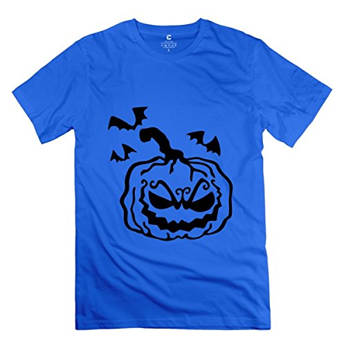 LiaoYang Pumpkin - Halloween Royal Blue Adult Standard Weight T-Shirt for Men XS -