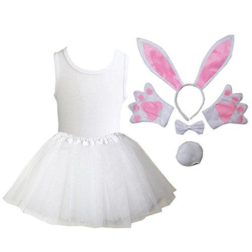 Kirei Sui Kids Animal Costume Tutu Set 120 White Bunny