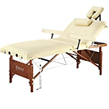 """Master® Massage 30"""" Del Ray """"Salon"""" Therma Top® Portable Massage Table Package-Sand Color"""