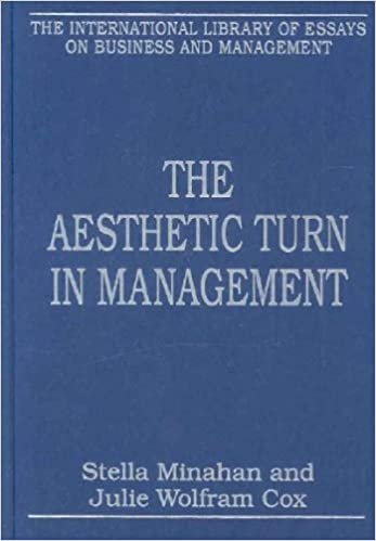 the aesthetic turn in management the international library of  the aesthetic turn in management the international library of essays on  business and management minahan stella minahan julie wolfram cox