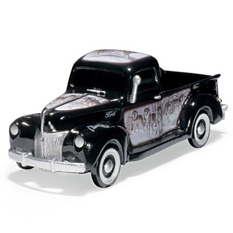 1:36 Scale 1953 Ford F100 Truck Sculpture with Ford Emblem and Al Agnew Wolf Art by The Hamilton Collection