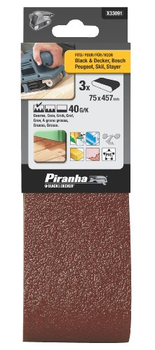 Piranha 40 g Sanding Belt, 75 x 457 mm