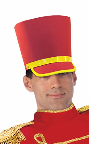 Forum Novelties Men's Deluxe Toy Soldier Hat, Red/Gold, One Size