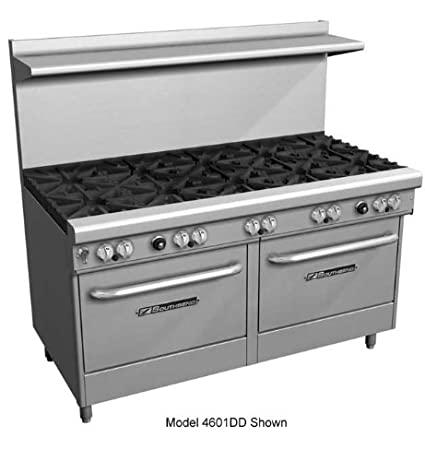 "Southbend 400 Series Ultimate Restaurant Range 60"" 2 Burner 48"" Griddle 1 Std. 1 Cnv. Oven - 4604AD-4GR"