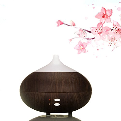 oobest Wood Grain Aroma Essential Oil Diffuser Humidifier-300ML Diffuser Cool Mist Humidifier Air Purifier Use with Waterless Auto Shut-off for Home, Yoga, Office, Spa