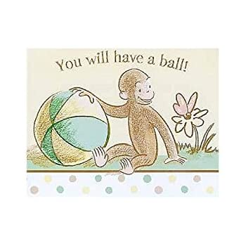 Amazon curious george invitations toys games curious george baby shower invitations w envelopes 8ct filmwisefo