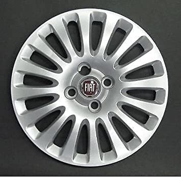 """Fiat Grande Punto 15 """"rojo wheeltrim, borde de la rueda Hub Tapa de"""