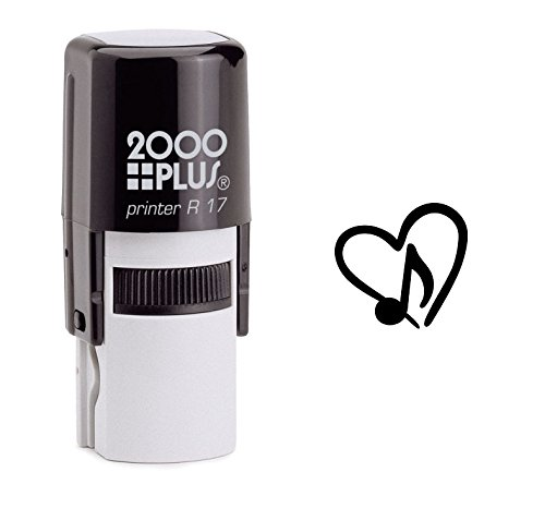 StampExpression - Eighth Note Music Love Self Inking Rubber Stamp - Black Ink (A-6296)