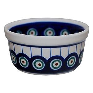 Hand-Decorated Polish Pottery Ragout Bowl 100ml Dip Bowl Würzf LEISCH Crème Brûlée Decor 8