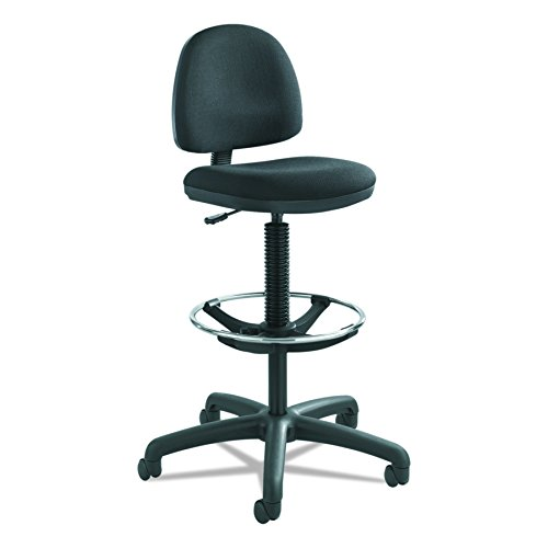 (Safco Products 3401BL Precision Extended Height Chair with Footring (Additional options sold separately), Black)