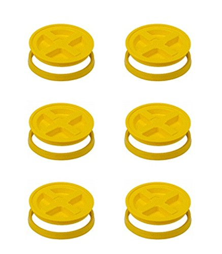 5 Gallon Yellow Gamma Seal Lid- 6 Pack
