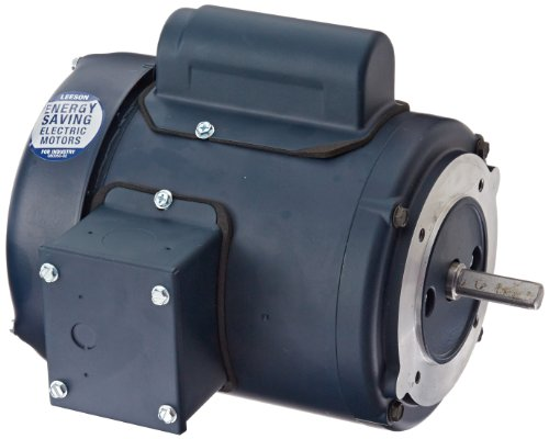 Leeson 102661.00 General Purpose C Face Motor, 1 Phase, 48CZ Frame, Round Mounting, 0.16HP, 1800 RPM, 115/208-230V Voltage, 60Hz ()