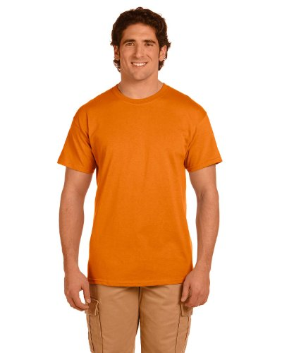 Fruit of the Loom 5 oz, 100% Heavy Cotton HD T-Shirt, Small, Tennessee - Reversible T-shirt Orange