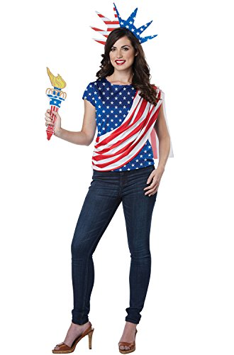 California Costumes Women's Miss Independence Adult Woman Costume, red/Blue/White, Extra Large]()