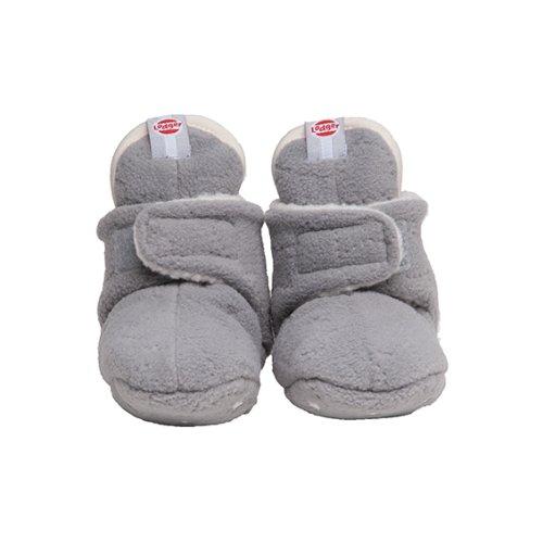 Lodger - Patucos de forro polar para bebé, color gris gris gris