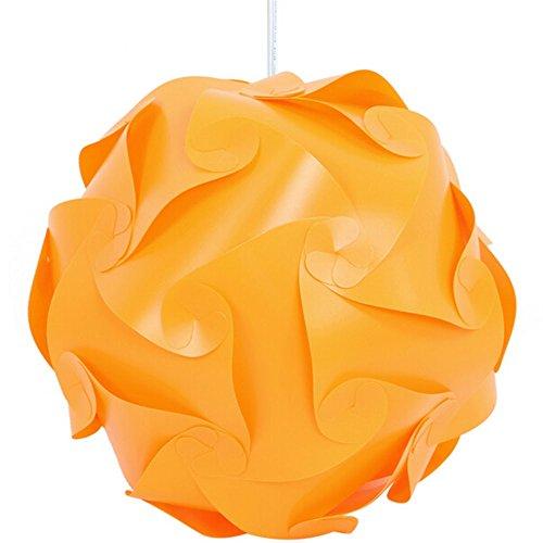30pcs 25cm Promotion PP DIY Modern Pendant Ball Novel IQ lamp Shade Jigsaw Puzzle Pendants Lights LED Ceiling Lampshade For Bar Orange