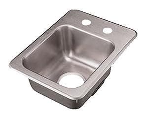 Elegant Polar Ware (173 4 2) 20 Gauge Stainless Steel Bar/Waitress Sink