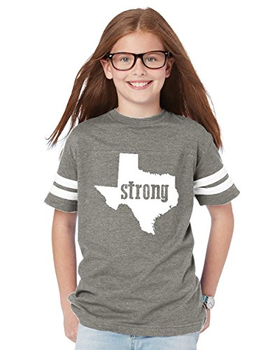 NIB Texas T-Shirt Strong Texas Home Of Texas State University and Unisex Youth Kids Football Jersey Tee (University Of Texas Halloween Party)