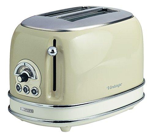 zwei scheiben retro toaster cremefarbig von ariete