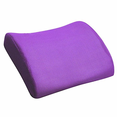 Lumbar Back Pillow - SODIAL(R) Memory Foam Seat Chair Lumbar Back Support Cushion Pillow For Office Home Car Deep purple LEPTS1443